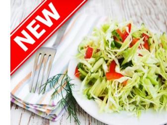 Салат из свежей капусты, перца болгарского и огурца 500 гр.